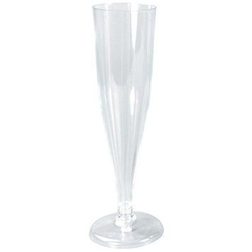 Party Joy [120 Ct] Plastic 6-oz Champagne Flutes (Pack of 120)