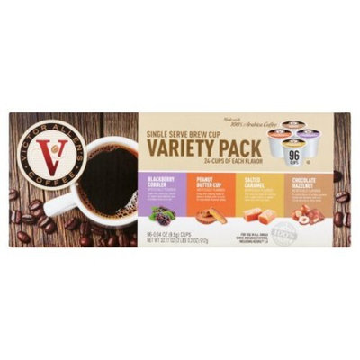Victor Allen's Coffee Single Serve Brew Cup Variety Pack, 0.34 oz, 96 count (1 Pack)