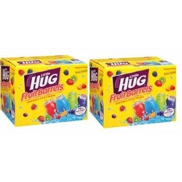 Little Hug Fruit Drink Barrels, Original Variety Pack, 8 Fl Oz, 40 Count (Pack of 2)