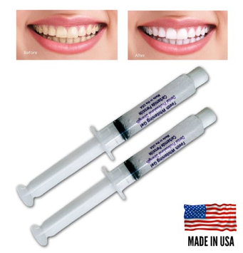 Always White Teeth Whitening 2 Syringes 35% Gel Professional Tooth Bleaching