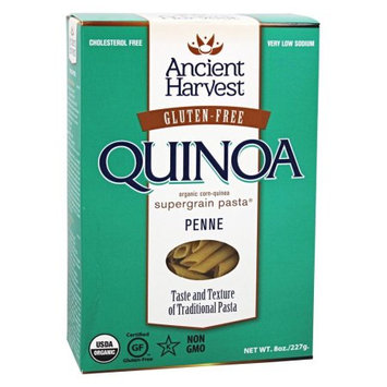 Quinoa Corporation Ancient Harvest Organic Supergrain Pastaâ ¢, Penne, 8 oz Box, 4g of Protein Per Serving, Gluten-Free, USDA Certified Organic, Non-GMO Project Verified, Star-K Certified Kosher