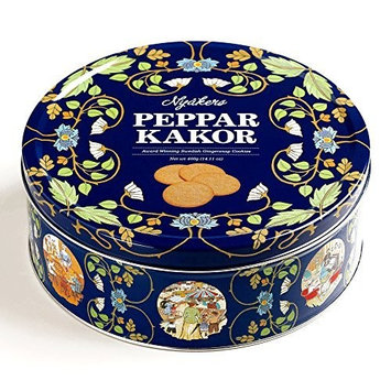 Nyakers Gingersnaps Gift Tin 14 oz each (5 Items Per Order)