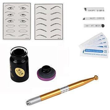 Vovotrade 3D Makeup Eyebrow Tattoo Microblading Permanent Needle Pen Pigment Kit