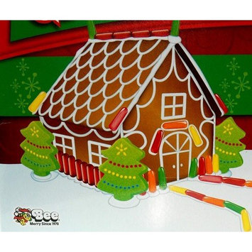 Bee Gingerbread Cottage Complete Kit with Mike and Ike, Hot Tamales, Peeps, 28 oz