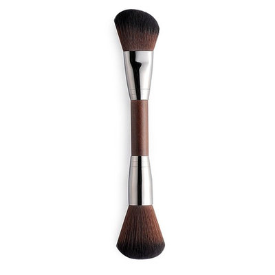 CLOTHOBEAUTY Pro Duo Cosmetics Makeup Brush Double Ended Contour and Highlight Brush