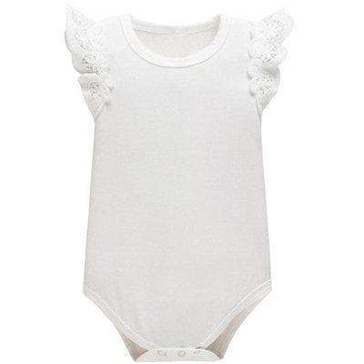 StylesILove Baby Girls Sailor Costume Romper (6-12 Months, White)