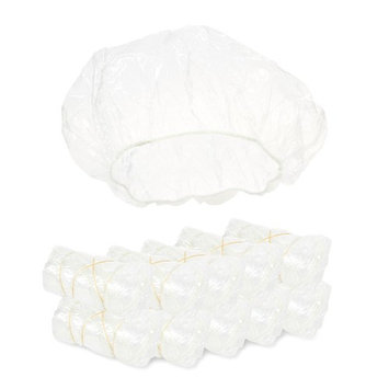 Juvale Shower Cap - 100-Count Disposable Shower Caps, Clear Plastic Shower Caps Women, Elastic Waterproof Hair Caps, Processing Caps Bath, Hair Coloring, Conditioning Treatments