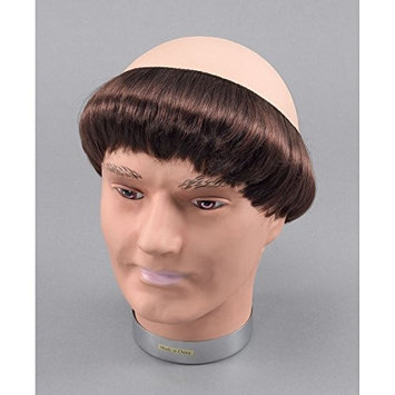 Bristol Novelty BW640 Short Hair and Monk Wig, Brown, One Size