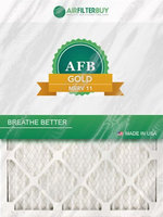 AFB Gold MERV 11 10x20x2 Pleated AC Furnace Air Filter. Filters. 100% produced in the USA. (Pack of 4)