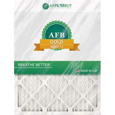 AFB Gold MERV 11 14x30x4 Pleated AC Furnace Air Filter. Filters. 100% produced in the USA. (Pack of 4)