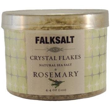 Falksalt Crystal Flakes Natural Sea Salt Rosemary 4.4 Oz by Falksalt