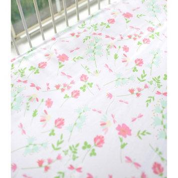 Spring Floral Crib Sheet by My Baby Sam