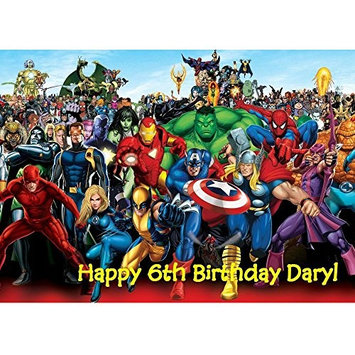 Marvel Superheroes Edible Frosting Cupcake Image Cake Decoration 12ct