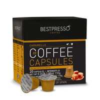 Bestpresso 20-Count Caramello Pack Nespresso® Compatible Gourmet Coffee Capsules