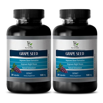 Anti fungal supplements - GRAPE SEED EXTRACT - Grape seed extract bulk - 2 bottles 60 capsules