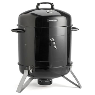 Cuisinart 30-in H x 19-in W 510-sq in Black Charcoal Vertical Smoker COS-116