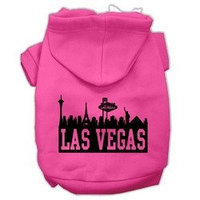 Mirage Pet Products Las Vegas Skyline Screen Print Pet Hoodies Bright Pink Size Lg (14)