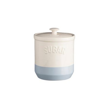 Mason Cash Bakewell Sugar Jar, Cream / Blue