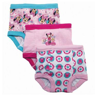 Handcraft 3-Pk. Minnie Mouse Training Briefs, Toddler Girls (2T-4T)