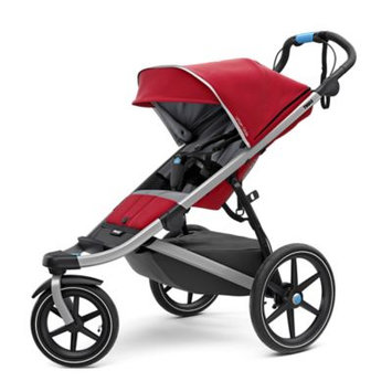 Infant Thule Urban Glide 2 Jogging Stroller With Silver Frame, Size One Size - Red