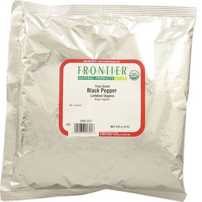 Frontier Natural Products Organic Black Pepper Fine Grind 1 lb