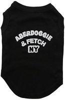 Mirage Pet Products 5101 MDBK Aberdoggie NY Screenprint Shirts Black Med 12