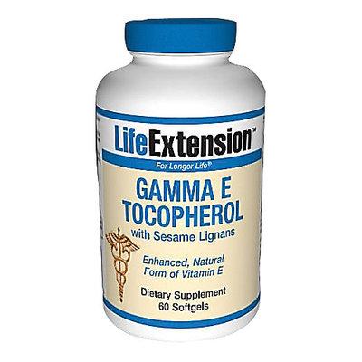 Life Extension Gamma E Tocopherol with Sesame Lignans Softgels, 60 Ct