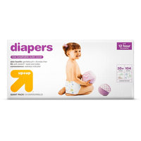 Diapers Giant Pack Size 6 104 ct - up & up, White