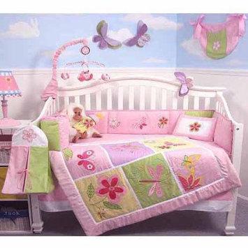 Soho Butterflies Meadows Baby 14 Piece Crib Nursery Bedding Set
