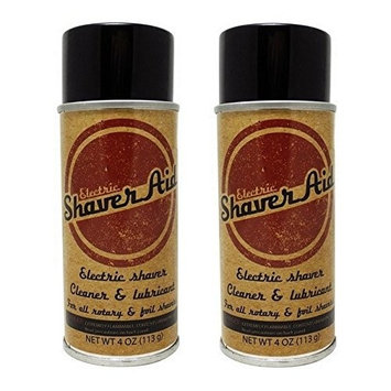 ShaverAid Electric Shaver and Razor Lubricant Spray 2 Pack