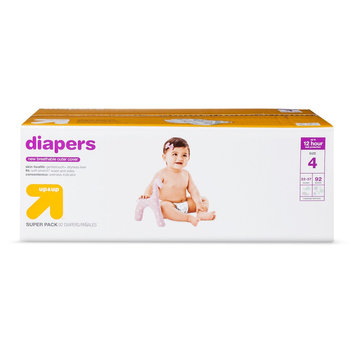 First Quality Baby Products Diapers Super Pack Size 4 92 ct - up & up, White