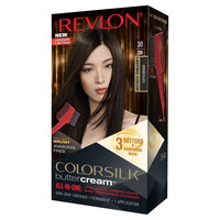 Revlon Luxurious Colorsilk Buttercream Haircolor - Brown Black 1 Kit