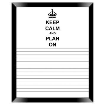 Ptm Images Keep Calm Notes Decorative Memoboard, Blck/White