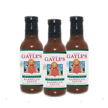 Gayles Sweet 'N' Sassy Barbecue Sauce - 3 pack of 18 oz - Original [Original]