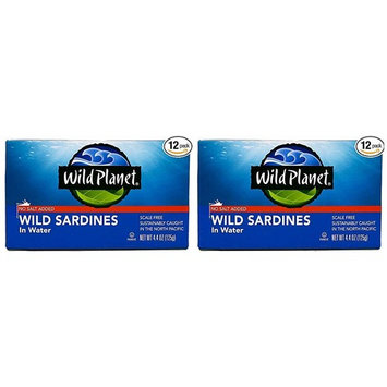 Wild Planet, Sardines No Salt in Water, 4.4 Ounce (24-(Pack))
