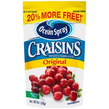 Ocean Spray Craisins Original, 6 Ounce (2 Pack)
