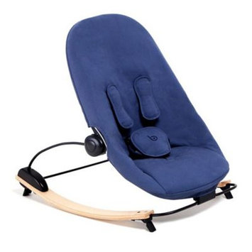 Bloom Coco Go Organic Lounger - Natural - Navy Blue