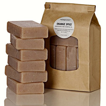 SIMPLICI Orange & Cinnamon Bar Soap Value Bag (6 Bars) Bulk Palm Oil Free. Scented with Pure Essential Oils.