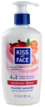 Kiss My Face 0713958 Moisture Shave Pomegranate Grapefruit - 11 oz