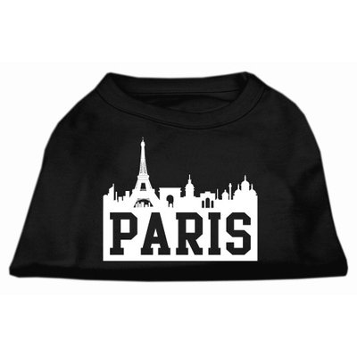 Mirage Pet Products 5171 XLBK Paris Skyline Screen Print Shirt Black XL 16