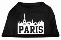 Mirage Pet Products 5171 XXXLBK Paris Skyline Screen Print Shirt Black XXXL 20