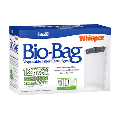 Tetra Whisper Bio-Bag Disposable Filter Cartridge, Medium, Pack of 12 cartridges ()