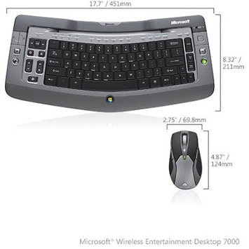 Microsoft Corp. Microsoft Wireless Entertainment Desktop 7000 - Keyboard - Wireless - Mouse - Laser