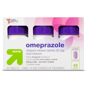 Perrigo up & up Omeprazole 20 mg Acid Reducer Delayed Release Wildberry Mint Tablets - 42 Count