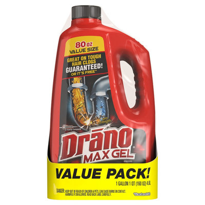 Drano Max Gel Value Pack - 80 Fl Oz