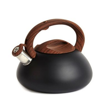 Sharper Image® 3.2 qt. Tea Kettle with Wood Soft Spray Handle in Matte Black
