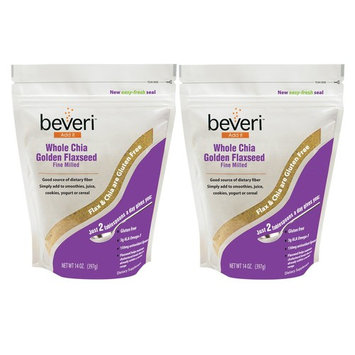 Beveri Fine Milled Golden Flaxseed with Chia, 14 Ounce (Pack of 2)