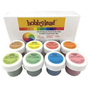 Hobbyland CK Products Powder Food Color Kit, 8 Colors, 4 Gram Jars, Professional Powder Food Color Set