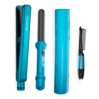 NuMe Power Couple 25mm Curling Wand, Flat Iron and Hair Styling Comb