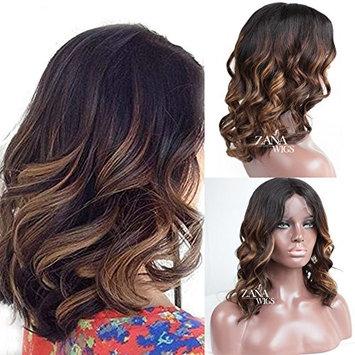 ZANA Glueless Lace Front Human Hair Wigs Ombre Brazilian Hair Short Wigs for Black Women